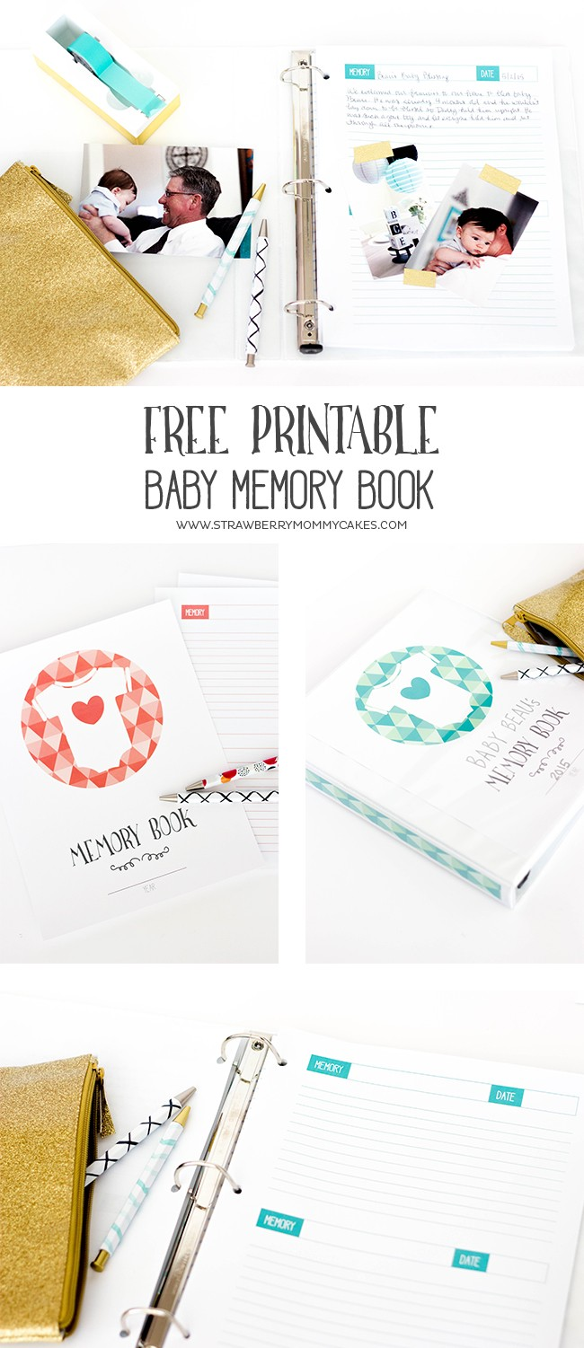 Two baby memory books in long pin collage