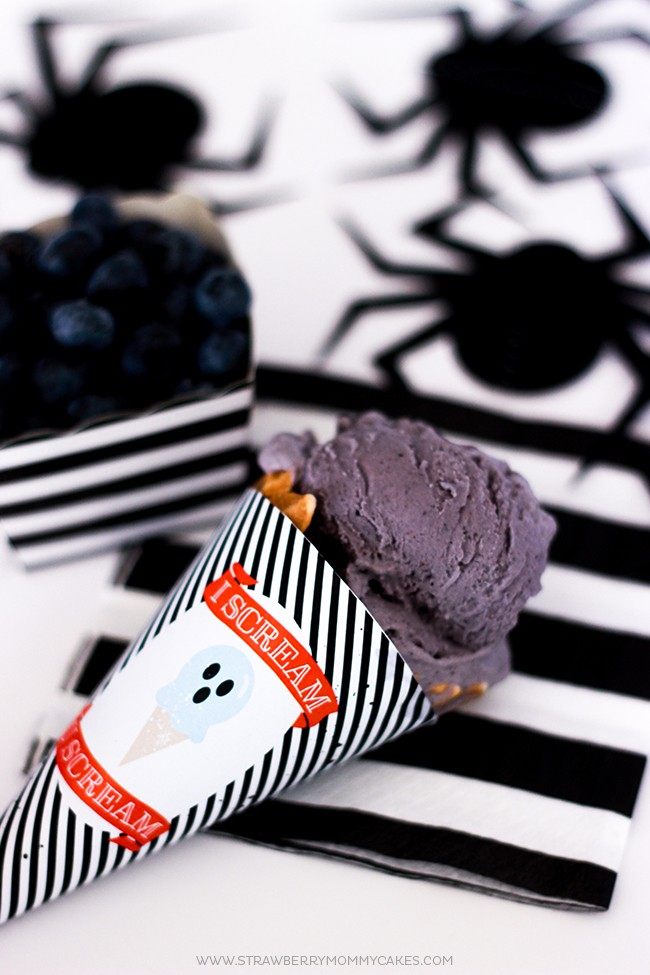 Try this creepy (and delicious!) Boo-Berry Homemade Blueberry Ice Cream