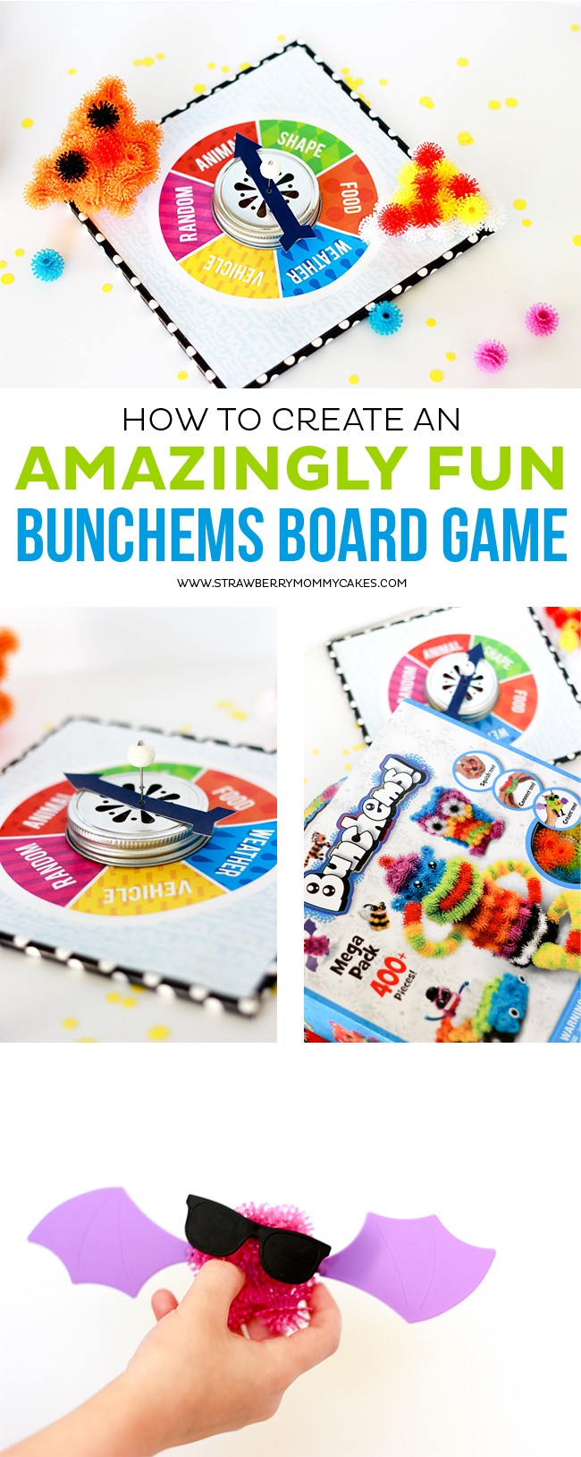 How to Create an AMAZINGLY fun Bunchems Board Game for young kids.