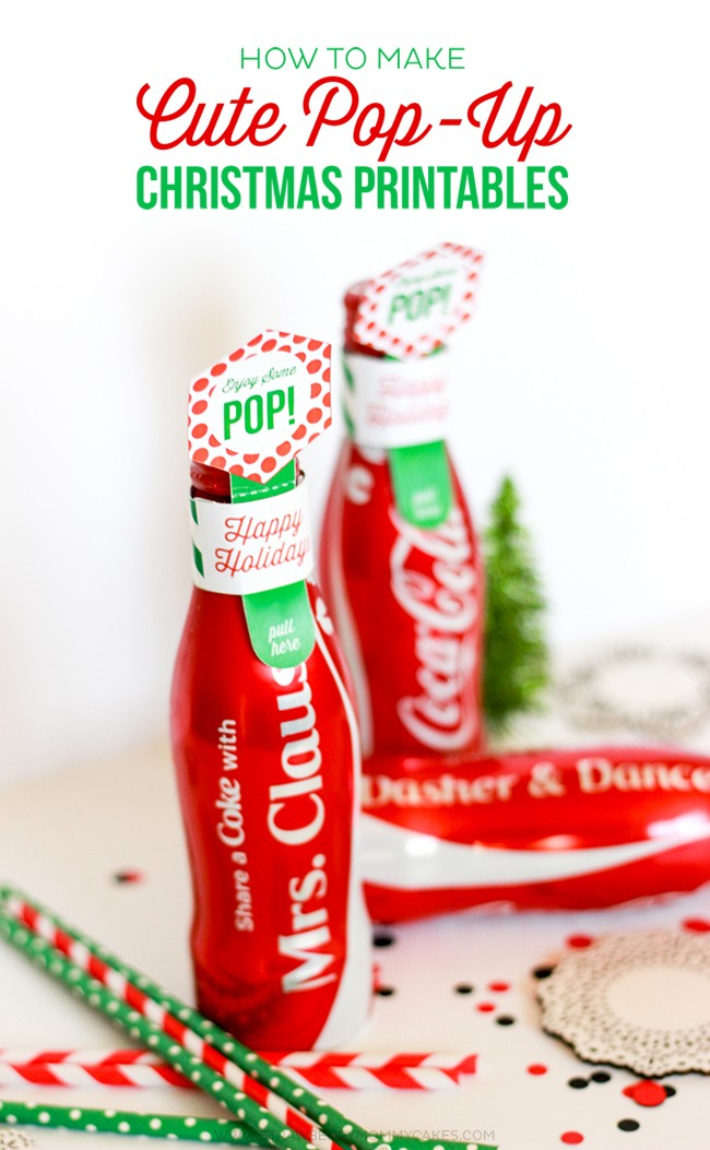 How to Make Cute Pop Up Christmas Printables! A great and refreshing Christmas gift idea!