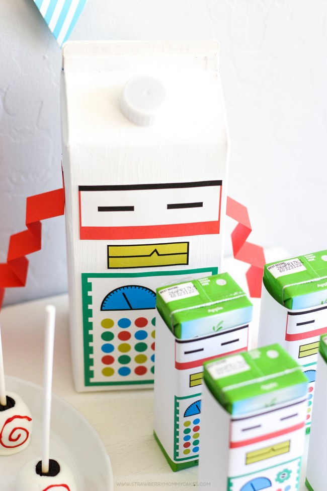 15 Minute Milk Carton Robot Craft