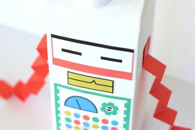 15 Minute Milk Carton Robot Craft