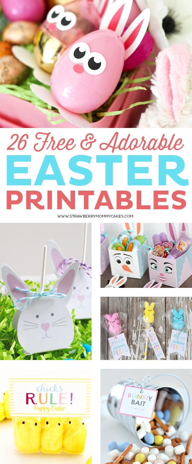 26 FREE and Adorable Easter Printables