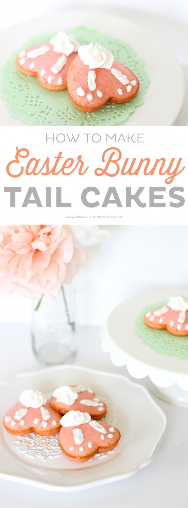 How to Make Easy Easter Bunny Tail Cakes