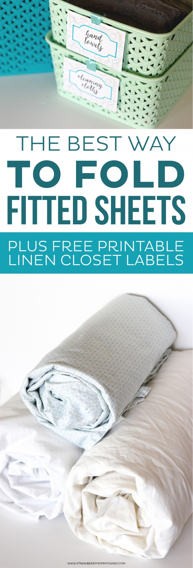 Want to learn the BEST Way to Fold Fitted Sheets? Here's a hint...YOU DON'T!