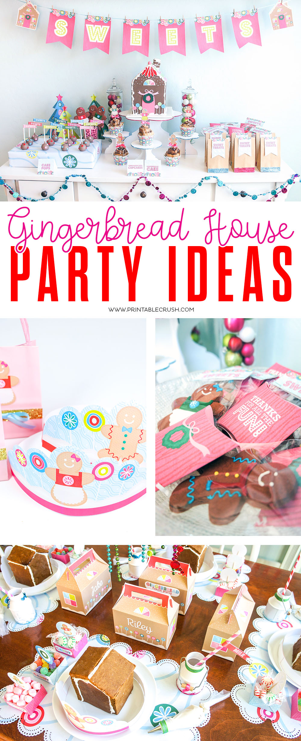Gingerbread House Party Ideas Printable Crush