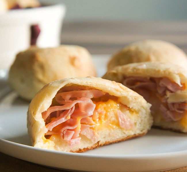 Ham Cheese and Potato Biscuits on www.strawberrymommycakes.com #recipe