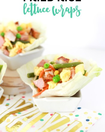 These Ham and Pork Fried Rice Lettuce Wraps Recipe would be the perfect party food for your next get together!