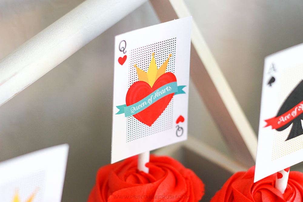 Queen of Hearts FREE Party Printables