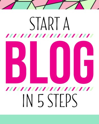 Learn how to START A BLOG in 5 steps. It's easier than you think!
