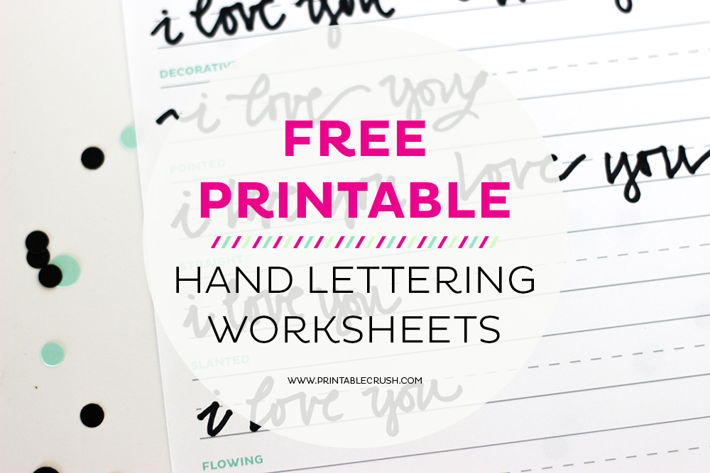 graphic relating to Lettering Printable identify 3 Free of charge Hand Lettering Worksheets for Novices - Printable Crush