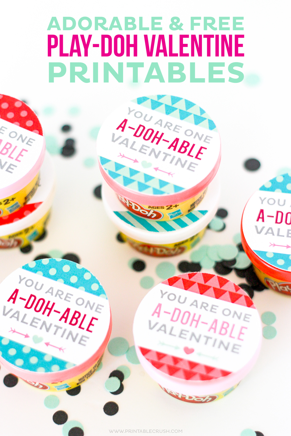 Adorable and FREE Play-doh Valentine Printables