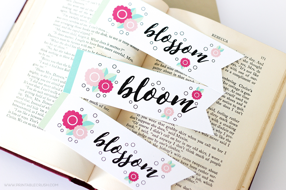 If you're like me and still like to read actual books, you'll love these pretty Spring Bookmark Printables!