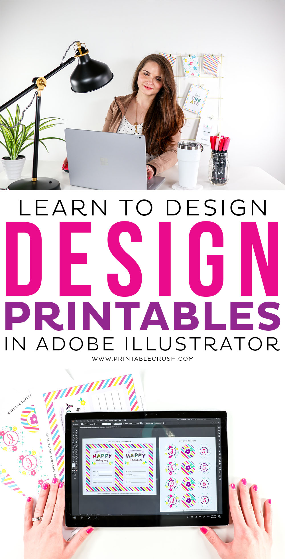 Learn to Design Printables in Adobe Illustrator - Printable Crush