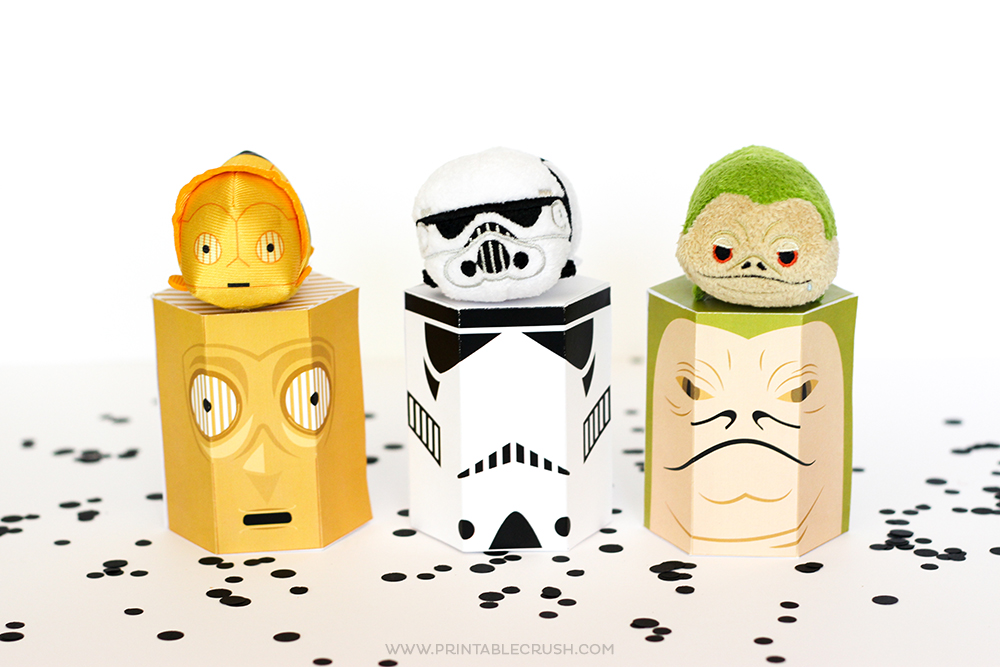 photo relating to Printable Star Wars titled Totally free Star Wars Printable Present Bins - Printable Crush