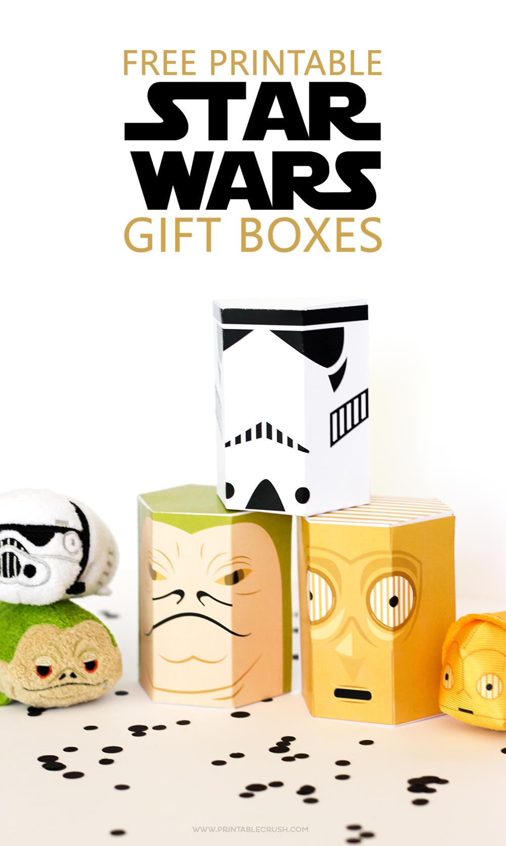 FREE Star Wars Printable Gift Boxes Printable Crush