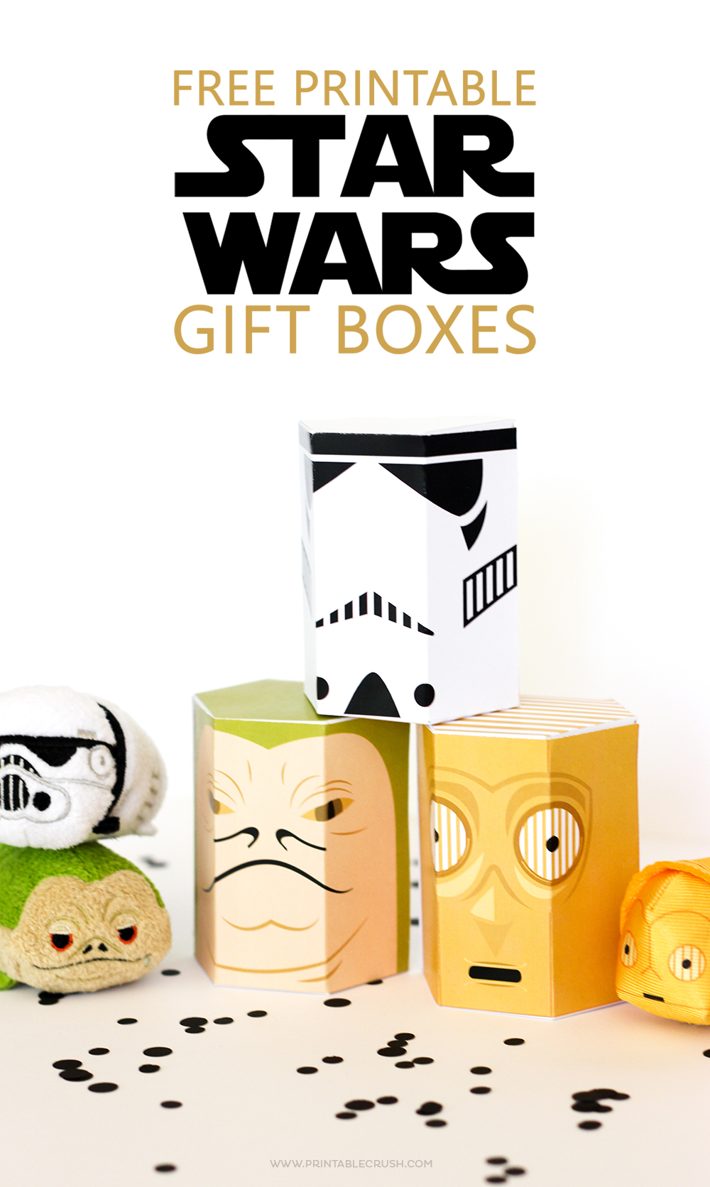 picture regarding Star Wars Printable identified as Cost-free Star Wars Printable Present Containers - Printable Crush