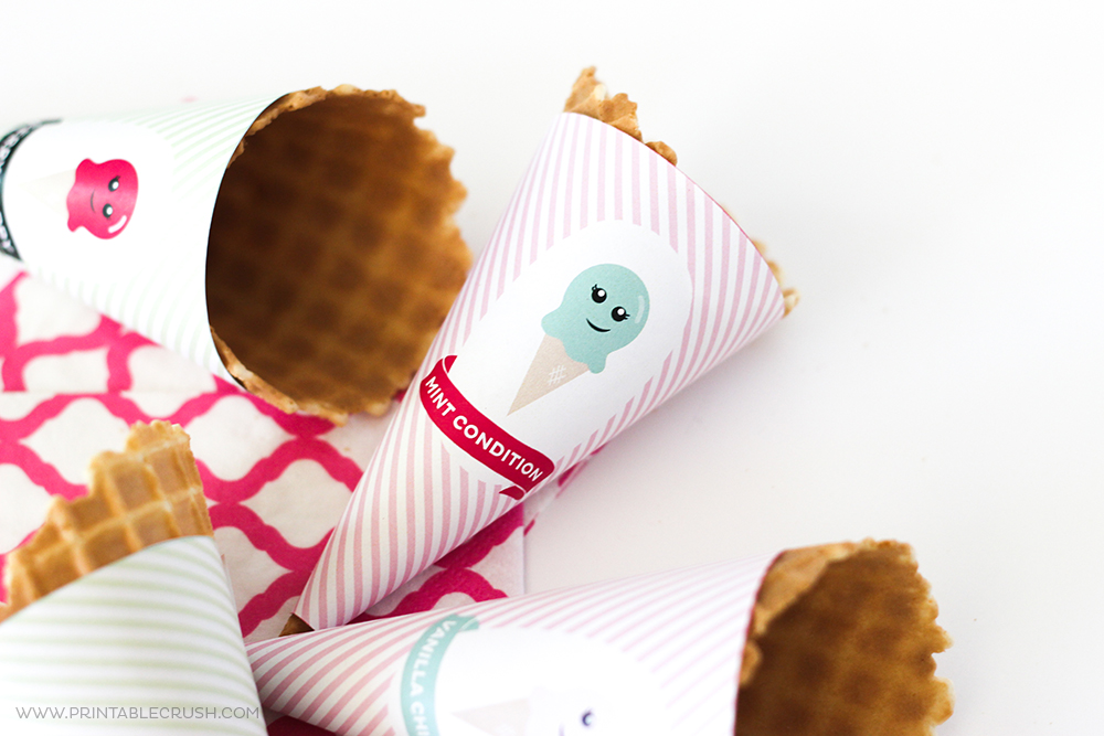 photograph about Printable Ice Cream Cones named Totally free Printable Ice Product Cone Wrappers - Printable Crush