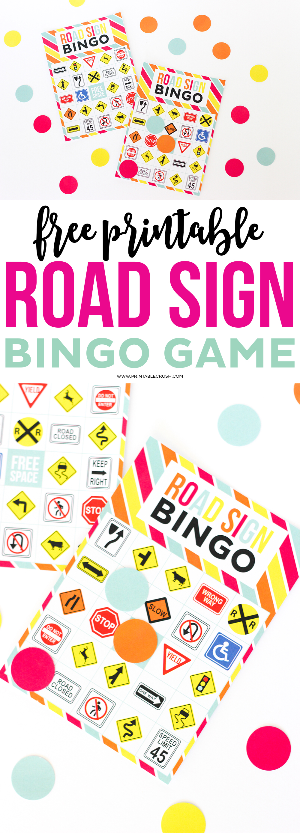 picture about Printable Road Sign known as Absolutely free Printable Highway Signal Bingo Activity - Printable Crush