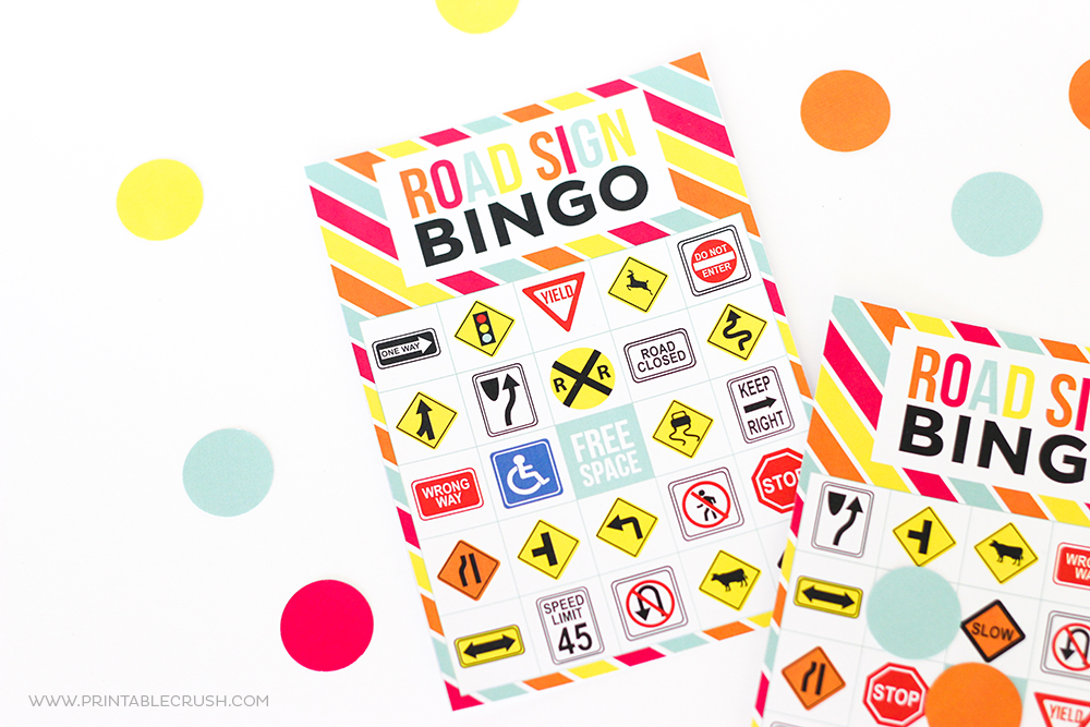 picture relating to Printable Bingo for Kids identified as Absolutely free Printable Highway Indication Bingo Activity - Printable Crush