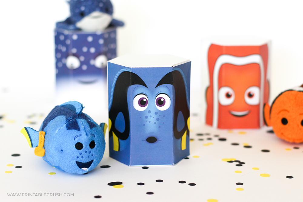 Dory and Nemo gift boxes on white table