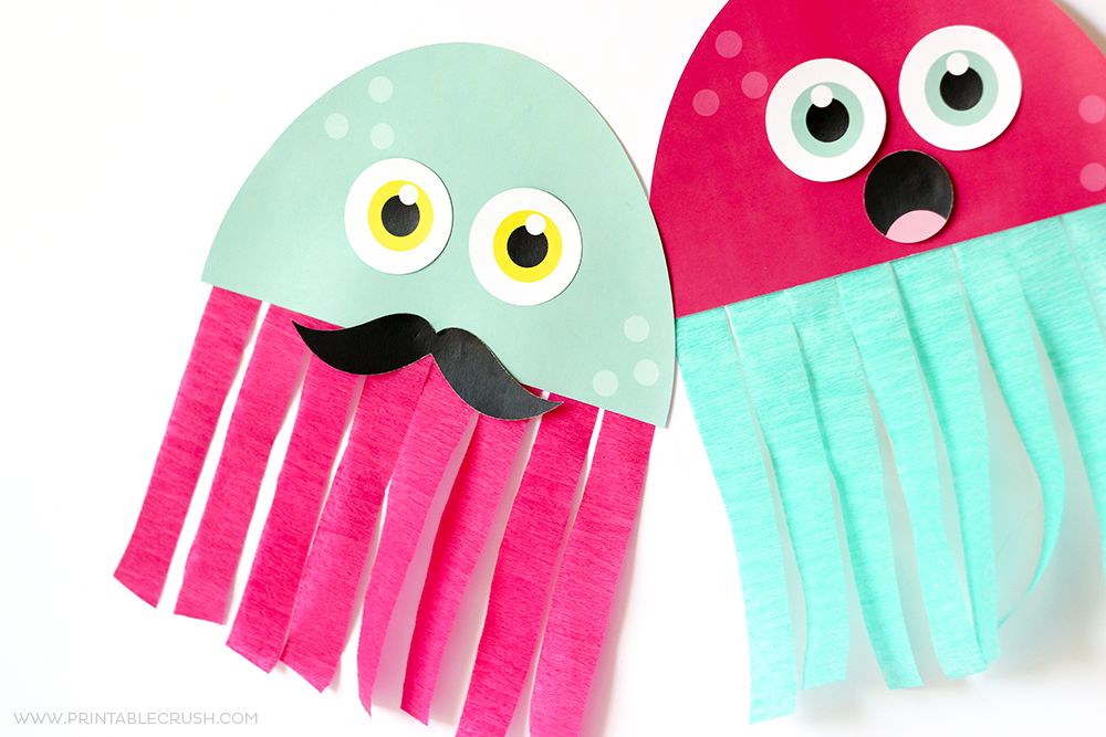 photograph about Printable Kids Craft named Cost-free Printable Jellyfish Child Craft - Printable Crush