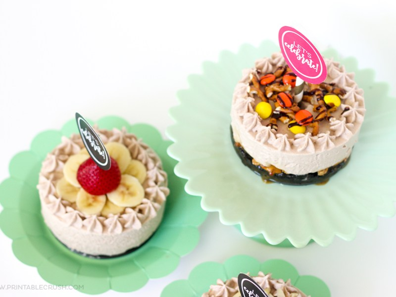 This Chocolate Caramel Ice Cream Cake is just what you need to satisfy that sweet tooth! Try our all three of these mini ice cream cakes for your next party!