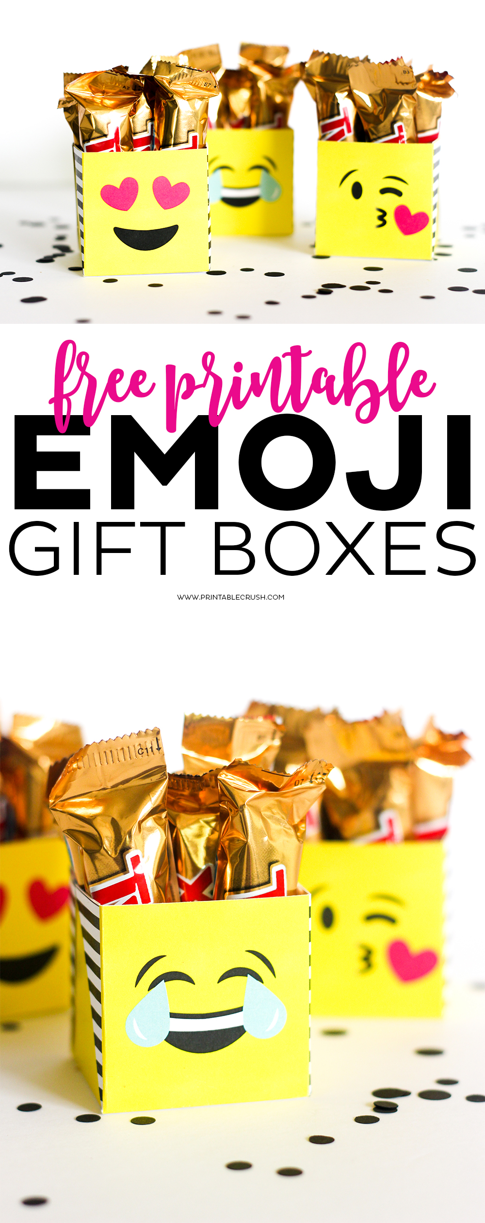 Long pin for emoji gift boxes perfect for emoji gifts
