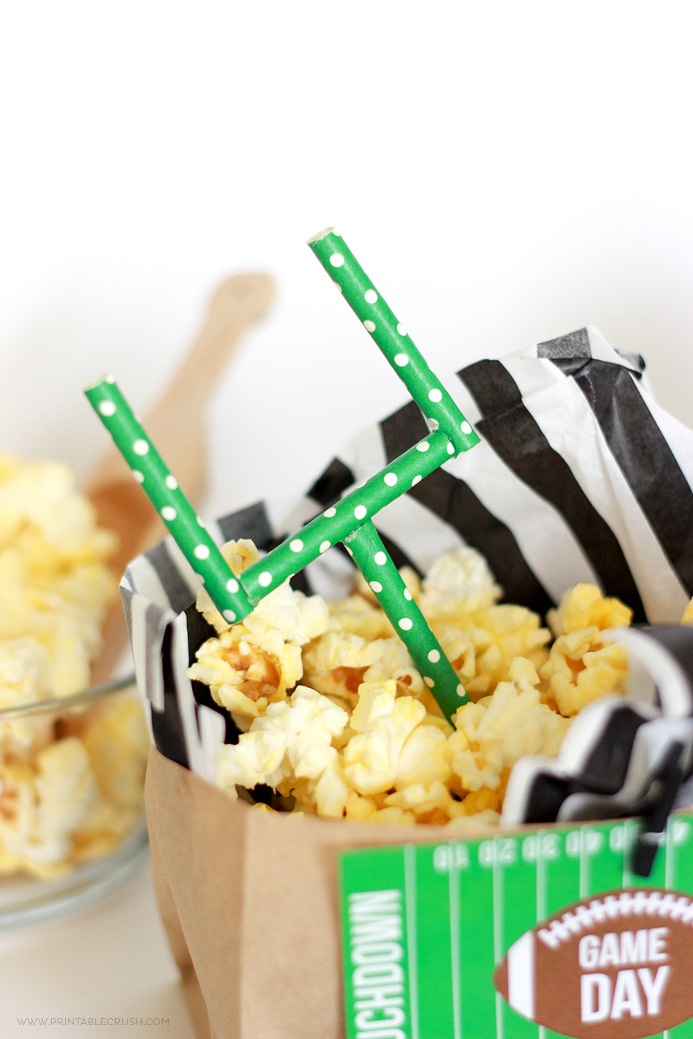 how to make paper popcorn bags