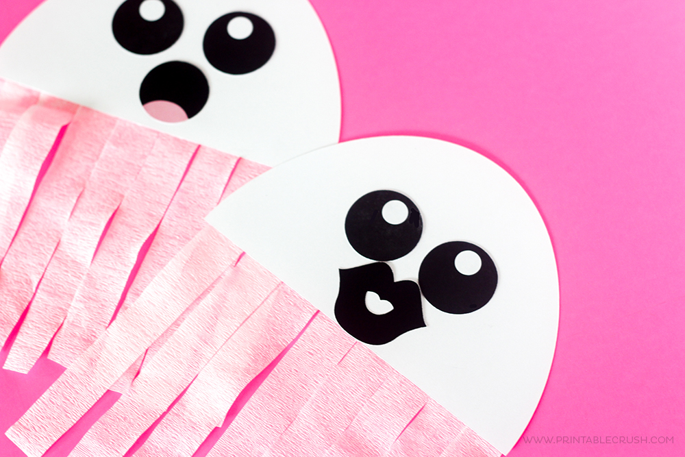 graphic relating to Printable Halloween Craft known as No cost Printable Ghost Halloween Craft - Printable Crush