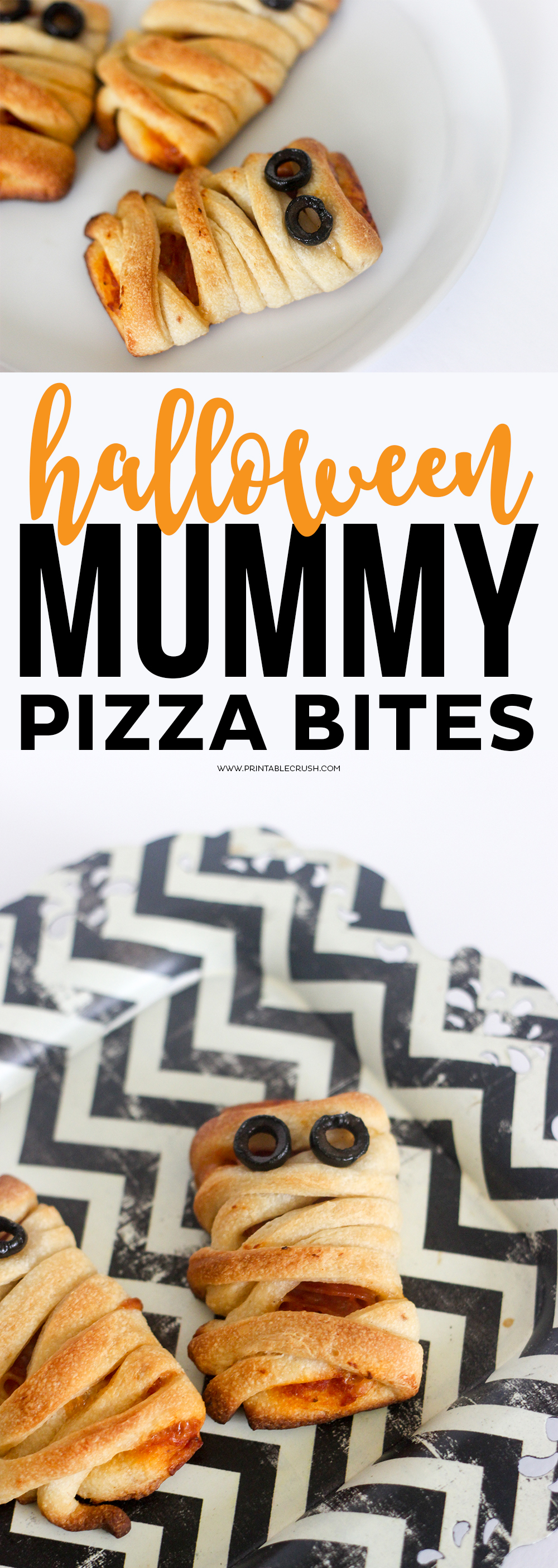 Mummy Pizza Bites collage