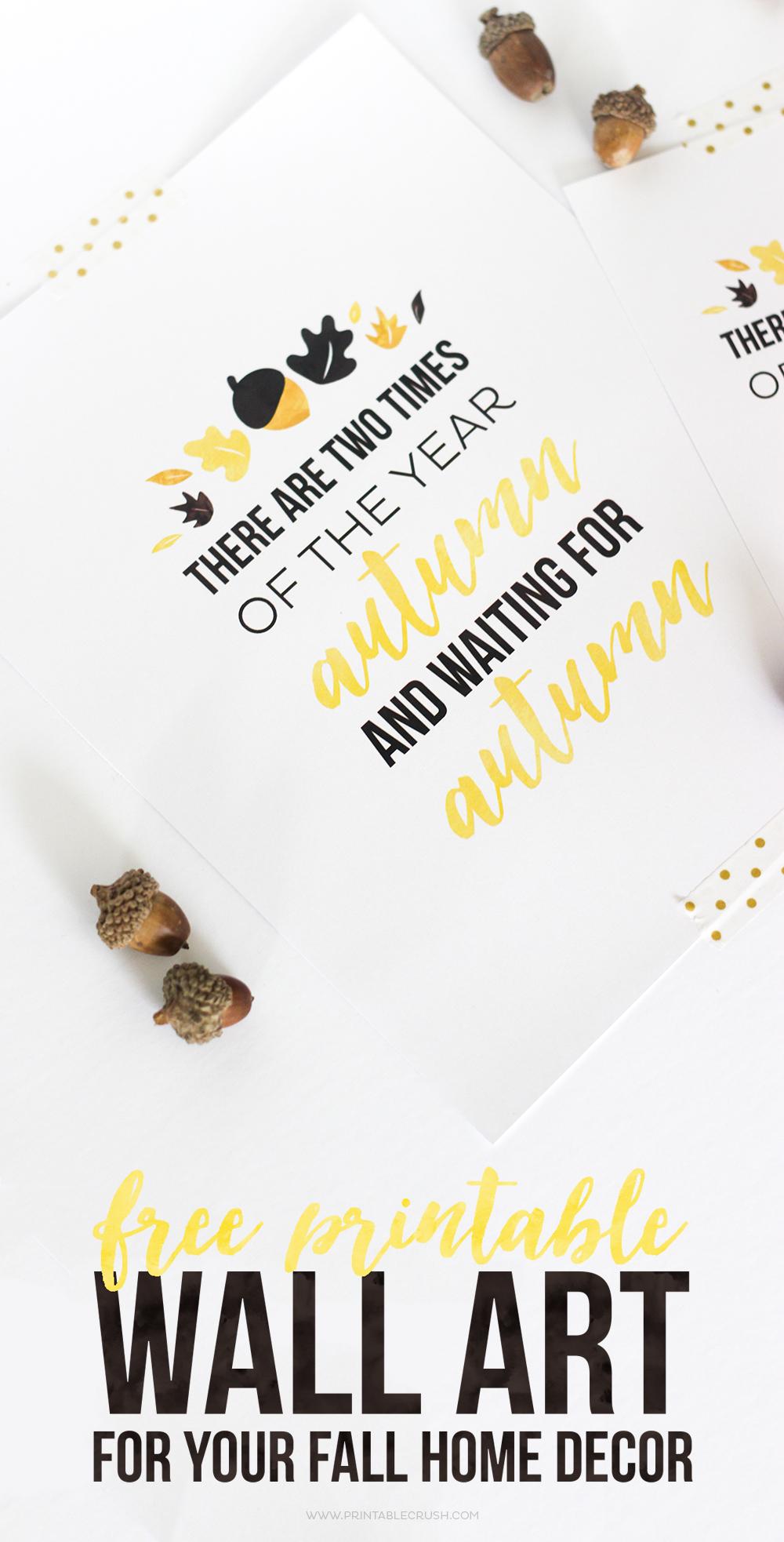 image relating to Free Printable Decor named No cost Printable Wall Artwork for Your Slide Residence Decor - Printable