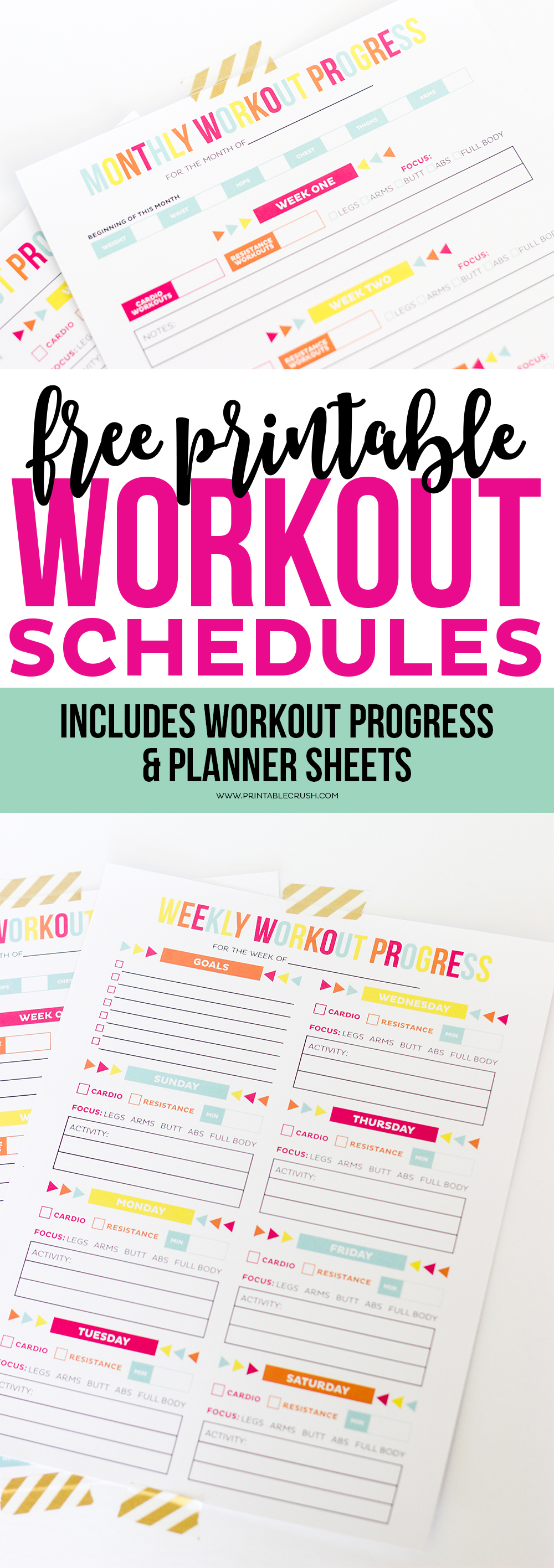 picture about Printable Workouts Routines identified as Exercise routine Calendar - Free of charge Printable Timetable/Advancements Sheets