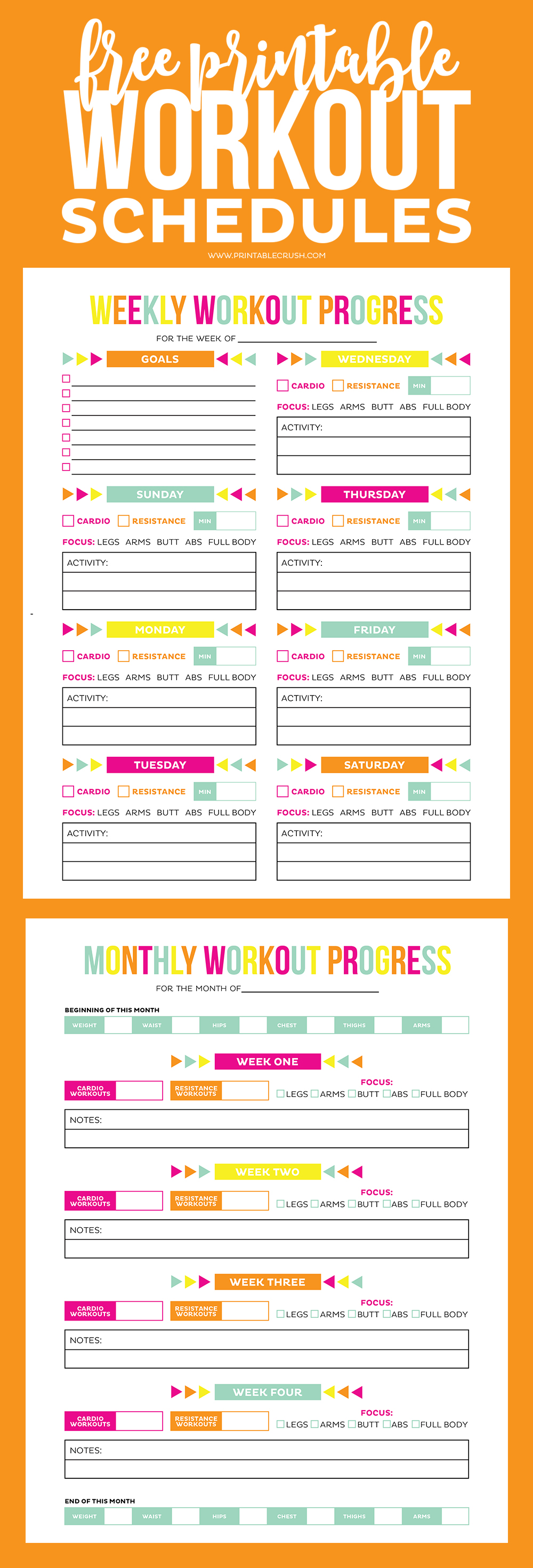 image about Printable Workouts Routines referred to as Exercise Calendar - Absolutely free Printable Routine/Developments Sheets