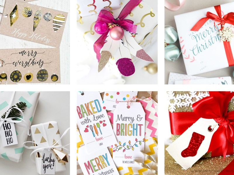 You'll love all these 23 Unique Christmas Gift Tags and Wrapping Ideas! I have included cute & free printable gift tags, printable wrapping paper, and some really fun ideas for wrapping for both kids and adults!