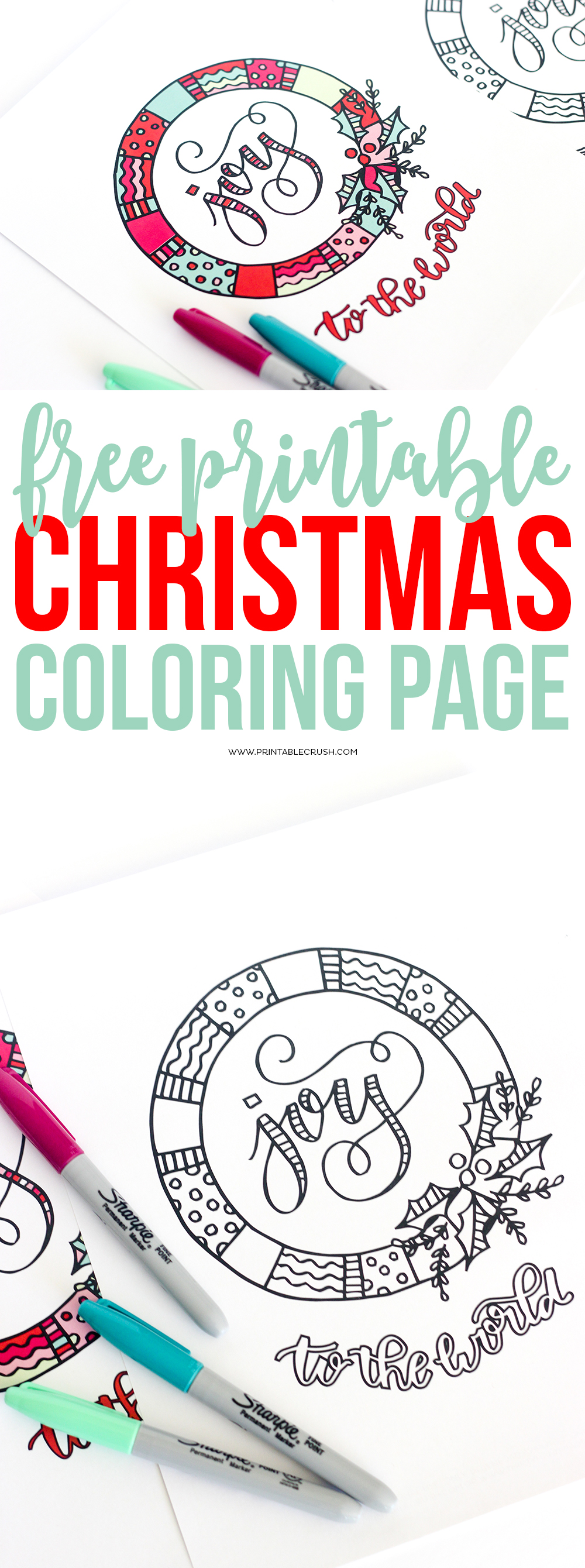 Print off some of these FREE Printable Christmas Coloring Page for a fun activity for kids or adults this holiday season! via @printablecrush