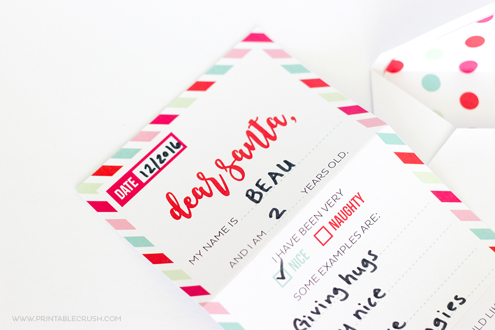 Free Santa Letter Printable Envelope And Liners