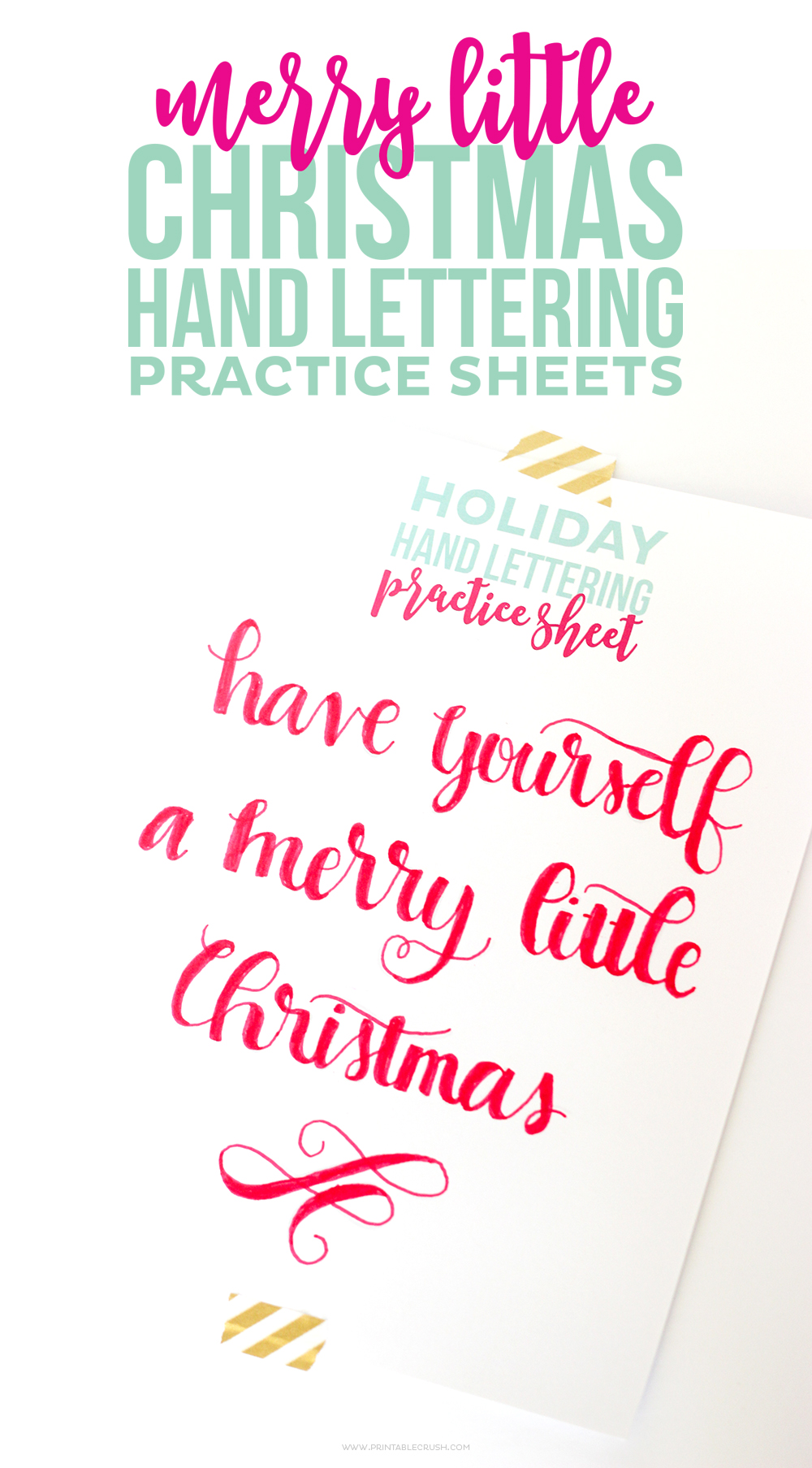 photo regarding Calligraphy Practice Sheets Printable known as Cost-free Printable Xmas Hand Lettering Train Sheets