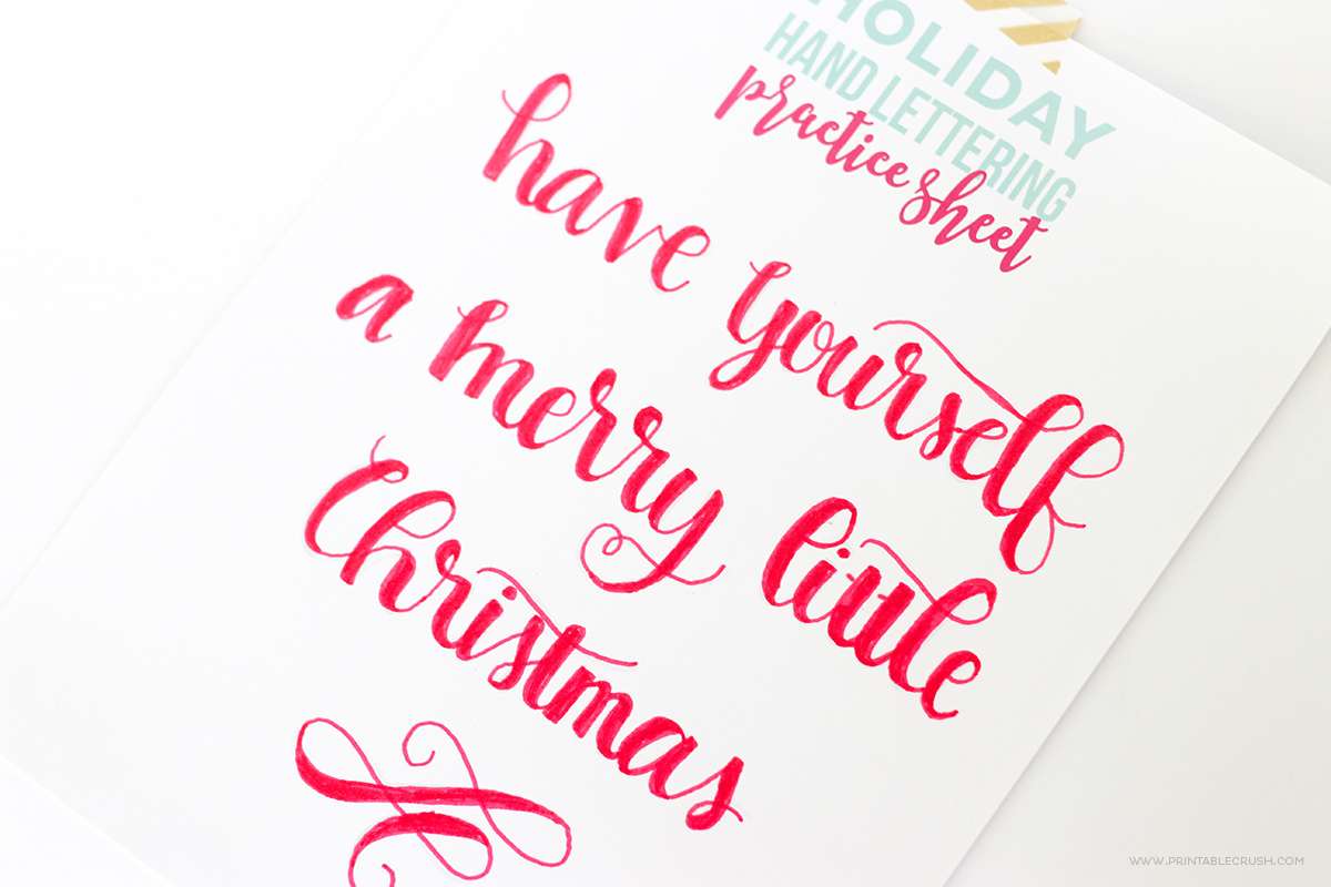 3 Free Hand Lettered Christmas Card Photoshop Files