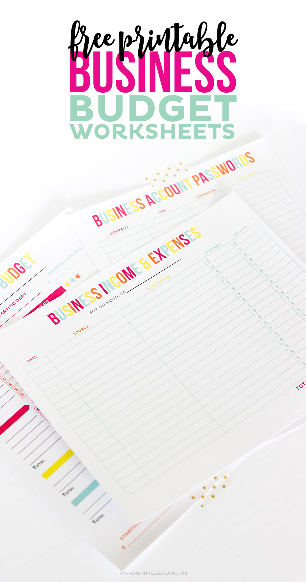 photograph about Printable Expense Tracker known as Absolutely free Printable Small business Spending plan Worksheets - Printable Crush