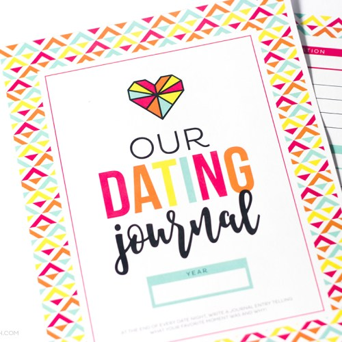 This Printable Date Journal is a part of the amazingly fun Cheap Date Night Printable kit and you can download the journal for FREE!
