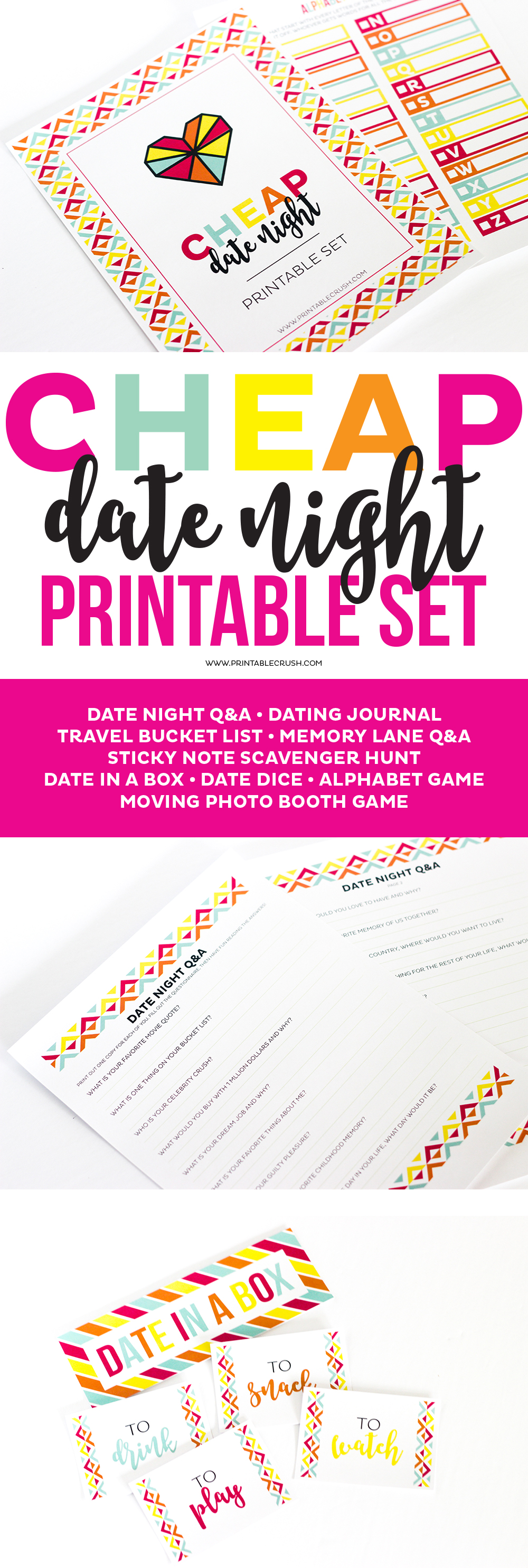 This Printable Dating Journal is a part of the amazingly fun Cheap Date Night Printable kit and you can download the journal for FREE!