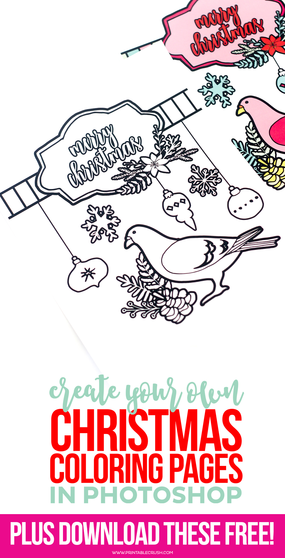 Christmas coloring pages pin