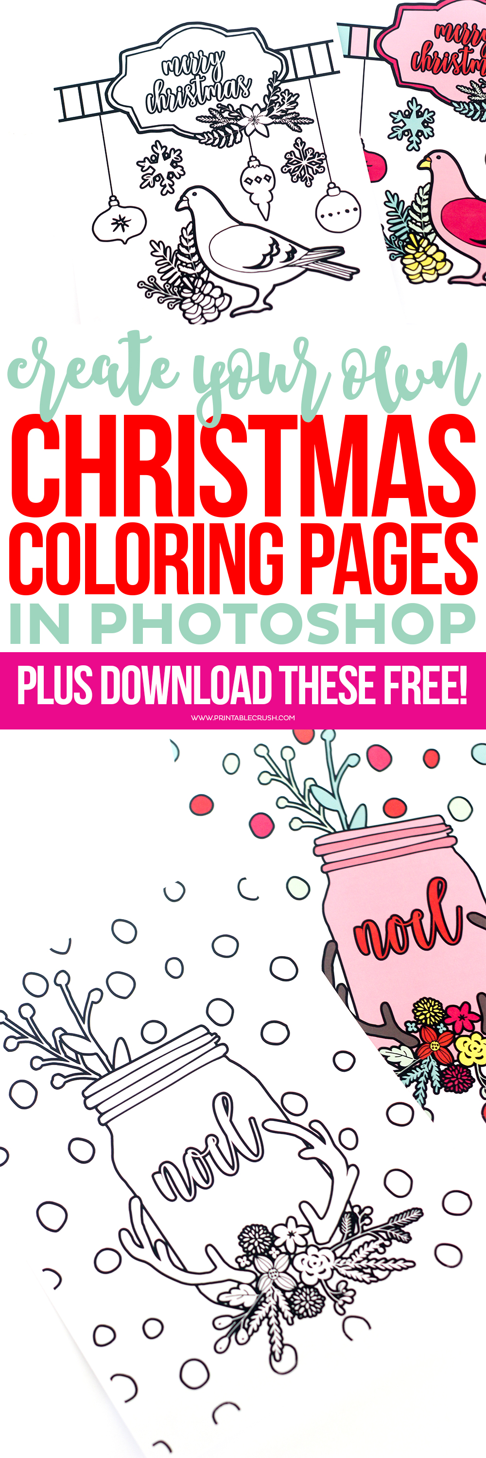 Christmas Coloring Pages long pin