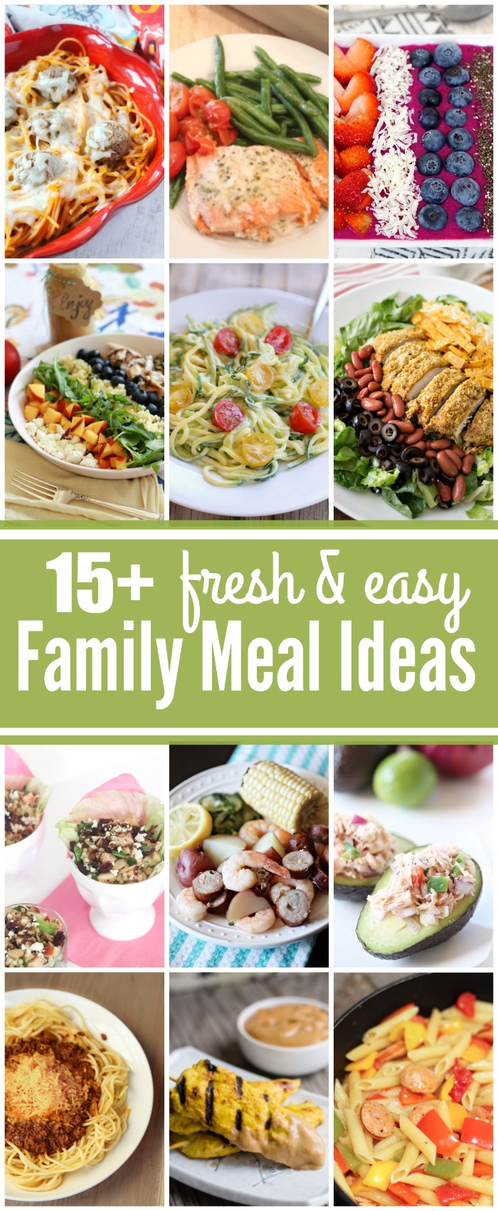 Enjoy these 15 FRESH and Easy Family Meal Ideas from some creative food bloggers!