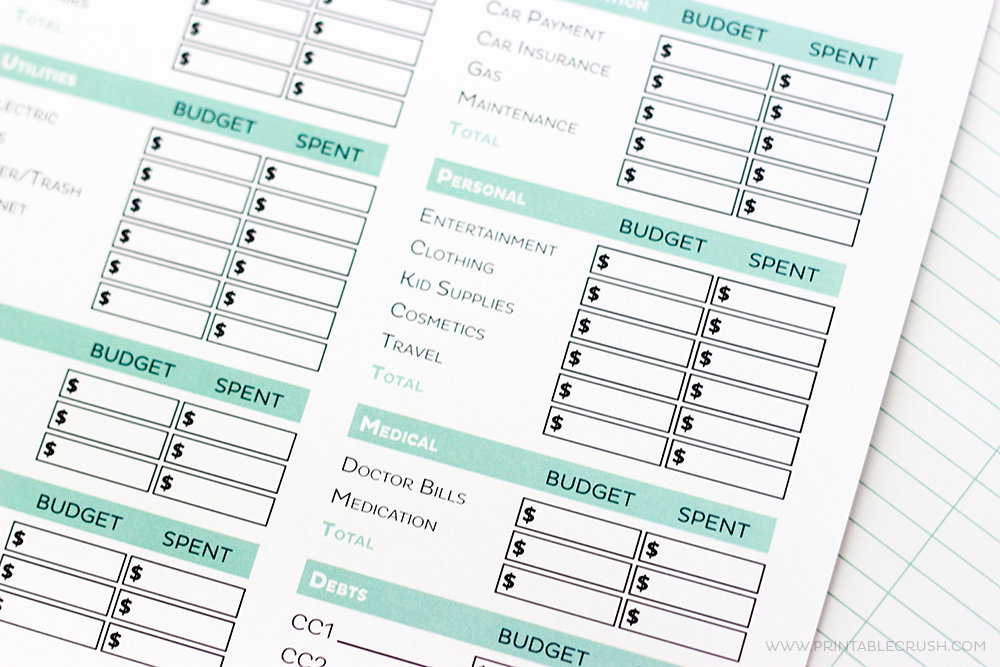 photograph about Free Printable Budget Templates named Very simple No cost Printable Spending plan Worksheets - Printable Crush