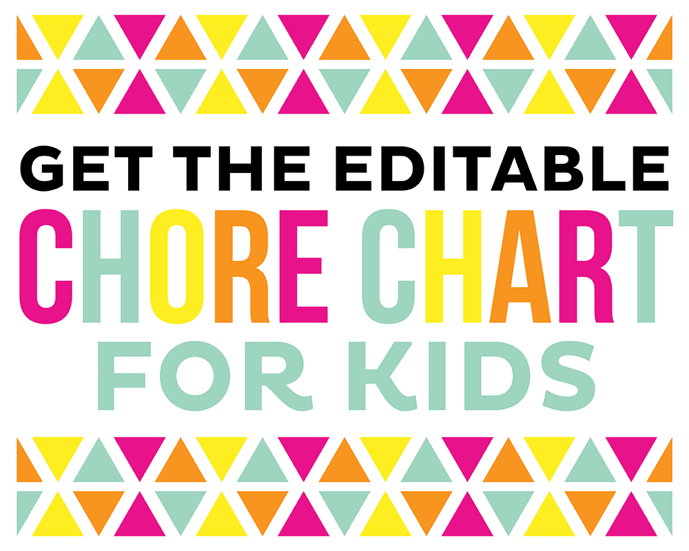 editable chore chart free
