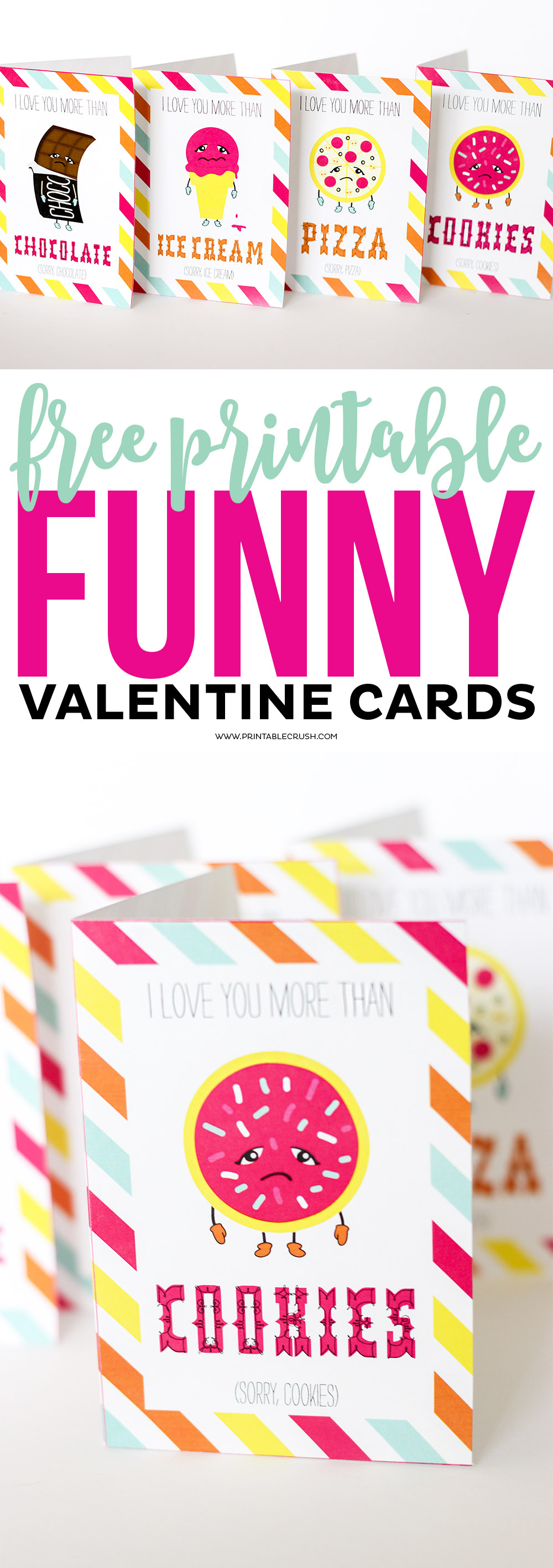 Funny Valentine cards long collage