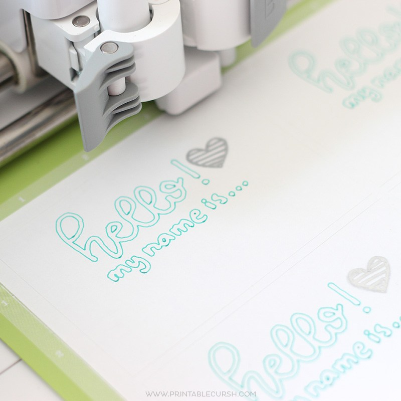 Clse up of Cricut machine in use