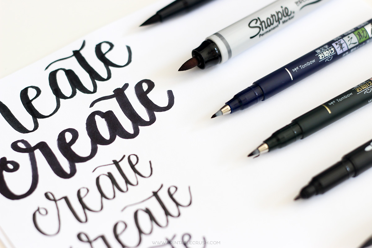See why these are the BEST Brush Lettering Pens for Beginners! Learning to Letter is so much easier with the right tools.